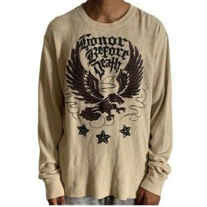 Lucky Brand Eagle Graphic Shirt Beige Size XL